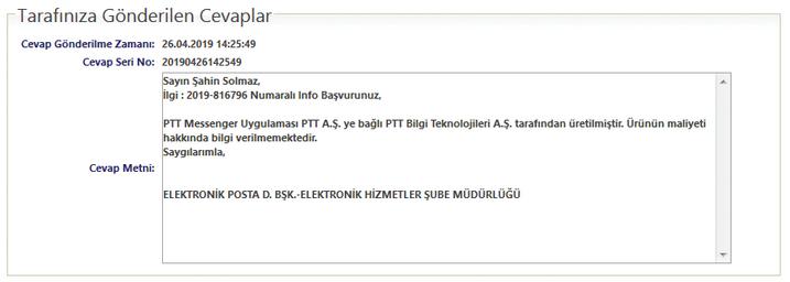 PTT Messenger'ın kamuoyuna maliyeti ne kadar oldu?